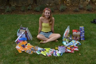Here is a photo of my surrounded by all the supplies I collected in 2012!